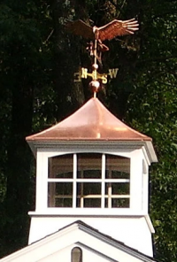 Cupola with Brass Top & Weather Vein